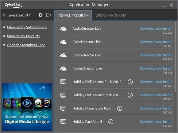 Cyberlink Director Suite adiciona assinaturas e armazenamento em nuvem