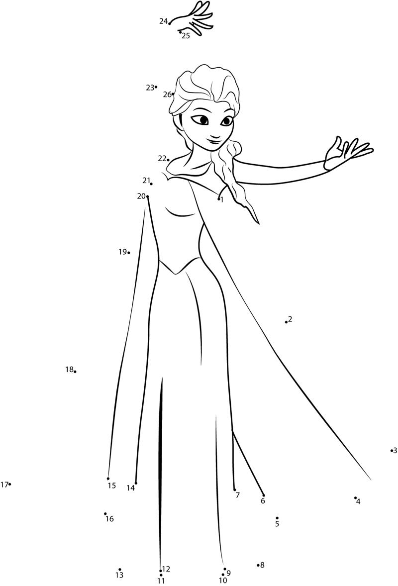 Gambar Mewarnai Frozen Disney