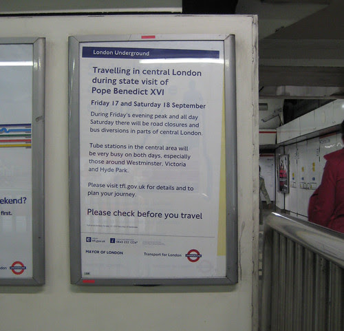 Papal visit TfL poster by Annie Mole