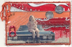 Vinyl recipe card Coke Cake: Front