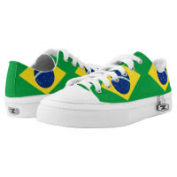 Brazilian flag Low Top Shoes Printed Shoes