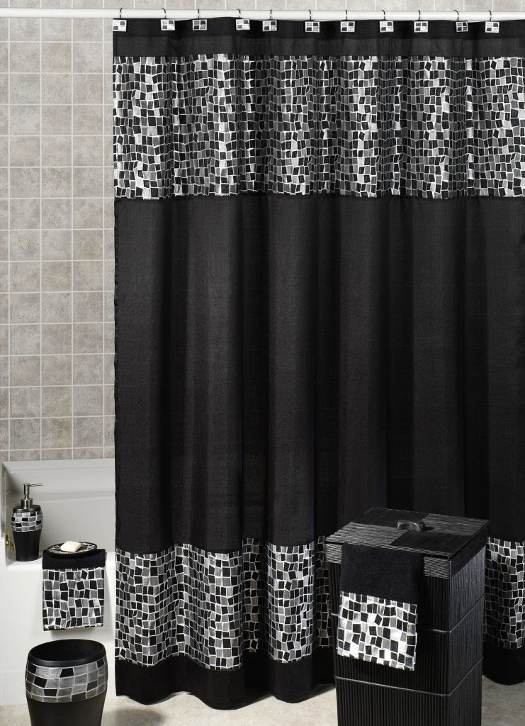 Gorgeous Black Shower Curtain Design Ideas For Simply Awesome Look Ideas 4 Homes