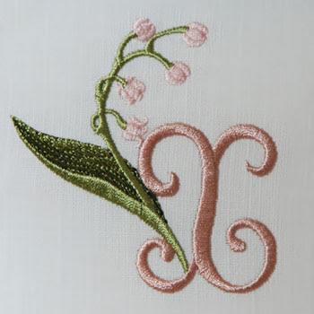 Lily Of The Valley Alphabet R Sonia Showalter Designs