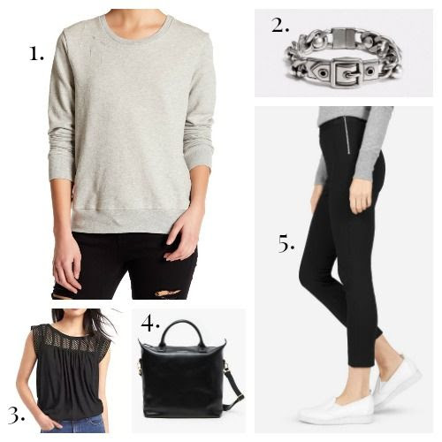 Sundry Sweatshirt - Coach Bracelet - Gap Tank - Want Les Essentials de la Vie Handbag - Everlane Pants