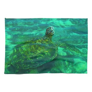 Hawaiian Honu Sea Turtle Hand Towel