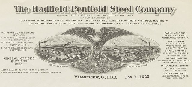 clay company's eagle logo and typographic letterhead/heading
