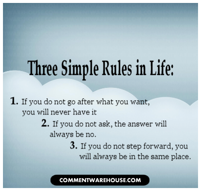 Quote Three Simple Rules In Life Commentwarehouse Com