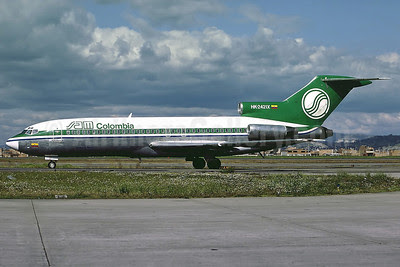 SAM Colombia Boeing 727-46 HK-2421X (msn 18875) BOG (Perry Hoppe). Image: 911426.