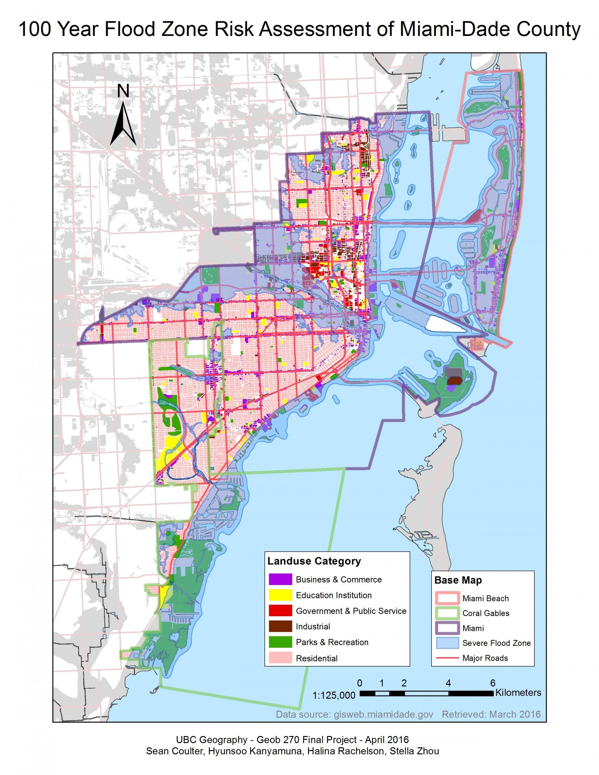 miami beach flooding map