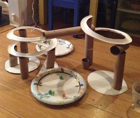 build  marble run  recycled cardboard craft