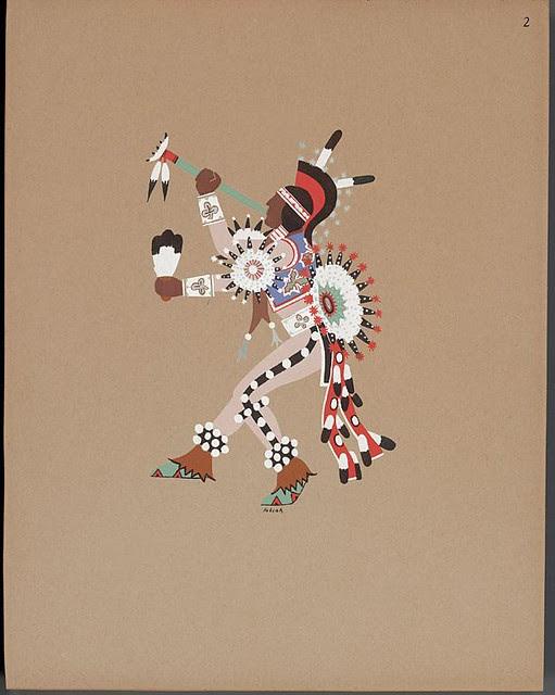 Hummingbird dance, 1929 - Jack Hokeah
