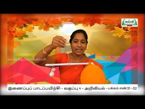 4th Science காற்று - காற்றின் வகை நாள் 7, 8 Kalvi TV