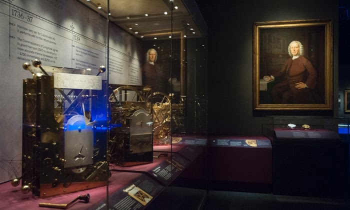 John Harrison's sea clocks on display at the National Maritime Museum