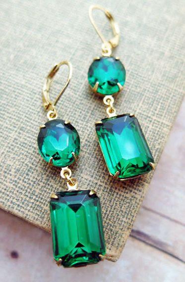 https://www.bkgjewelry.com/blue-sapphire-earrings/734-18k-yellow-gold-clip-on-diamond-blue-sapphire-earrings.html Emerald Earrings Vintage Earrings Emerald Bridal