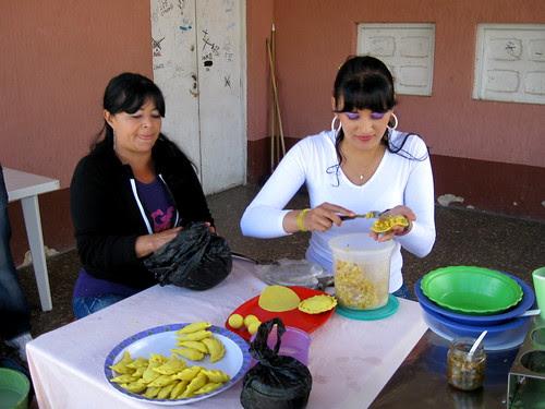 Making the empanada