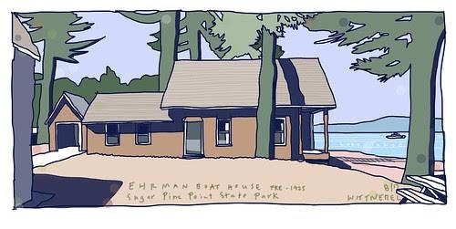 Boat House at Erhman site by douglaswittnebel