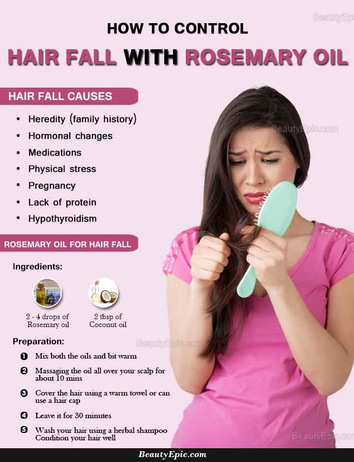 How to Control Hair Fall with Rosemary Oil?