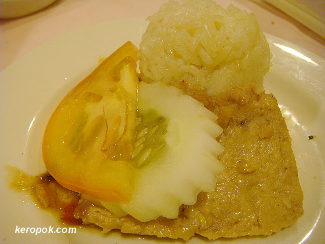 Mock Chicken with Mock Chicken Rice ball