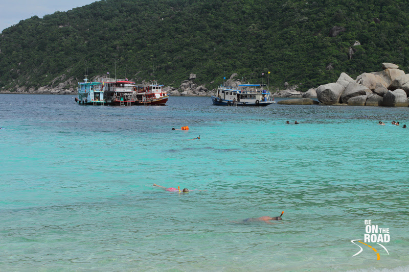 Snorkeling in the waters around Koh Nang Yuan, Thailand