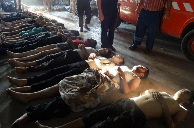 O horror dos horrores AFP/SHAAM NEWS NETWORK