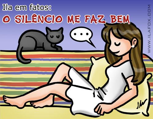o silencio me faz bem, ilustração by ila fox