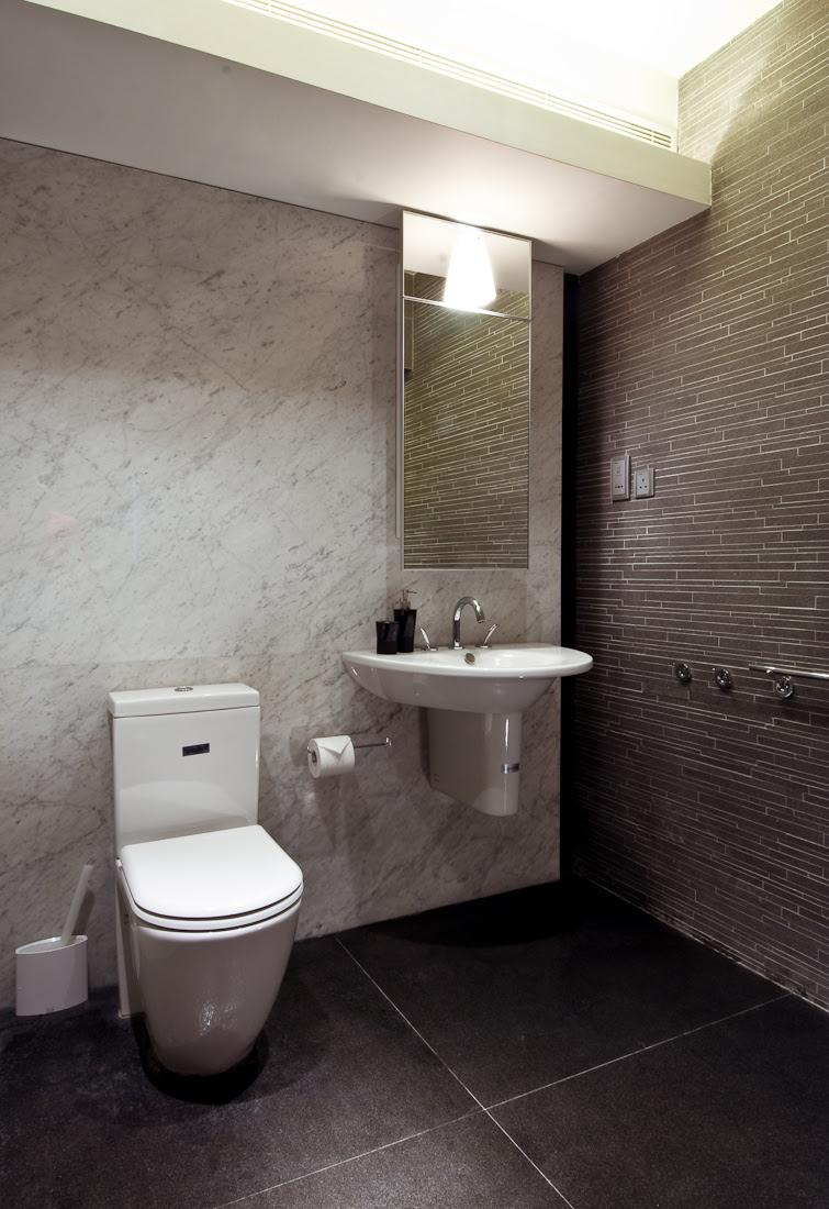 marble grey tile bathroom | Interior Design Ideas.