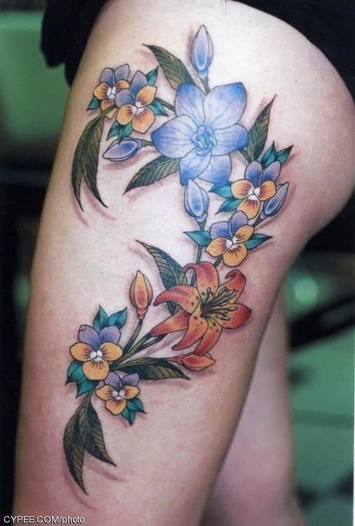 Tatuajes Para Mujer Modelos De Tatuajes En El Muslo Moda
