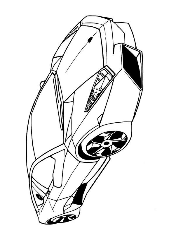 ausmalbilder autos lamborghini  malvorlagen gratis