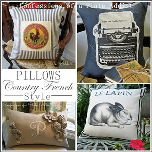CONFESSIONS OF A PLATE ADDICT Pillows...Country French  Style small