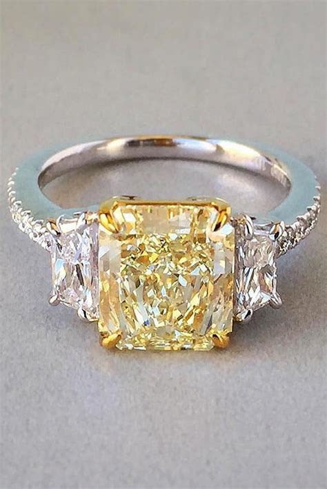 21 Yellow Diamond Engagement Rings That Every Girl Wants