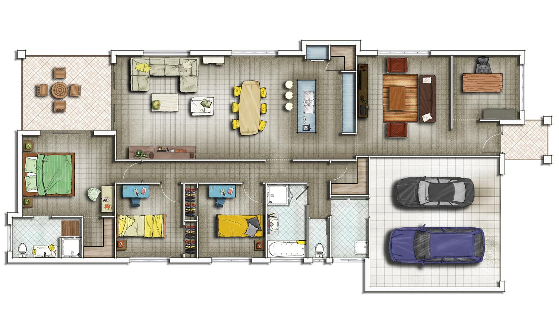SubZero Animation  VFX – Private Residential House 2D Floor Plans