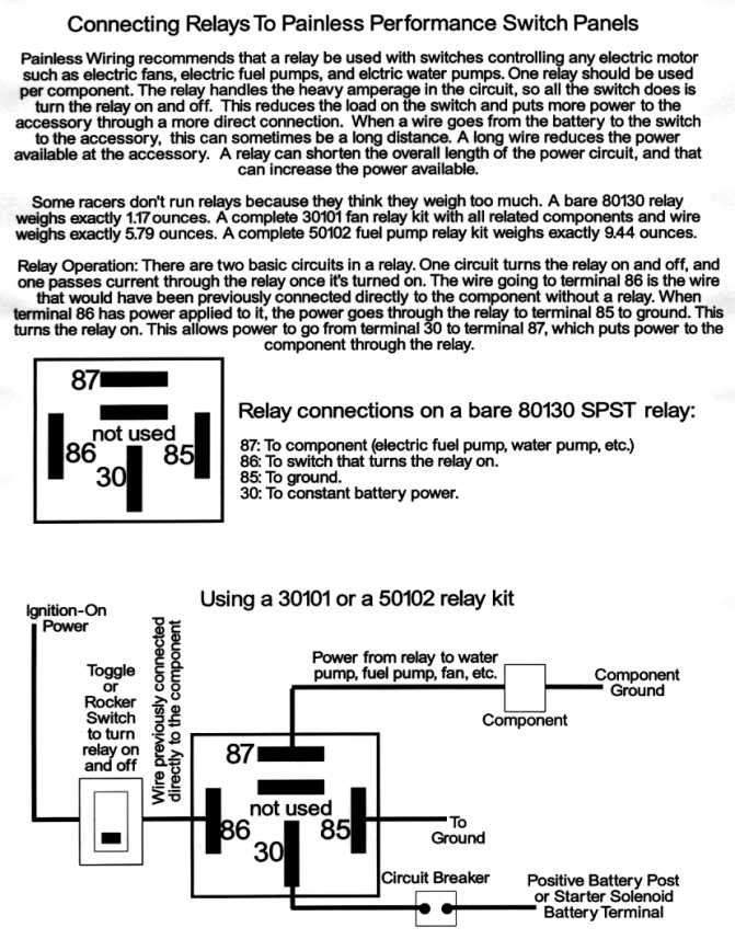 wiring diagram for an electric fuel pump and relay  aamidis