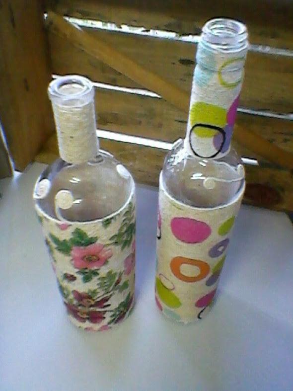 Como enfeitar garrafas e potes com barbante 004