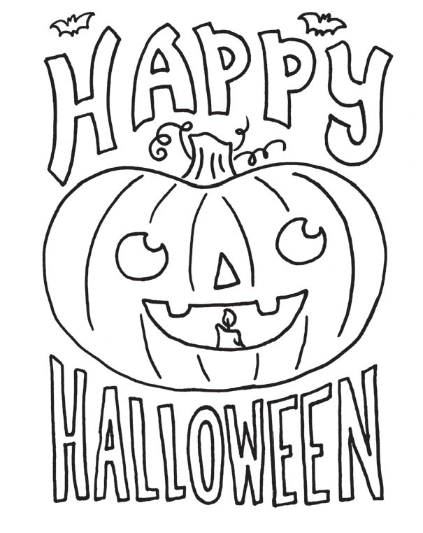 21+ Elegant Picture of Halloween Coloring Pages For Kids ... | 762x605