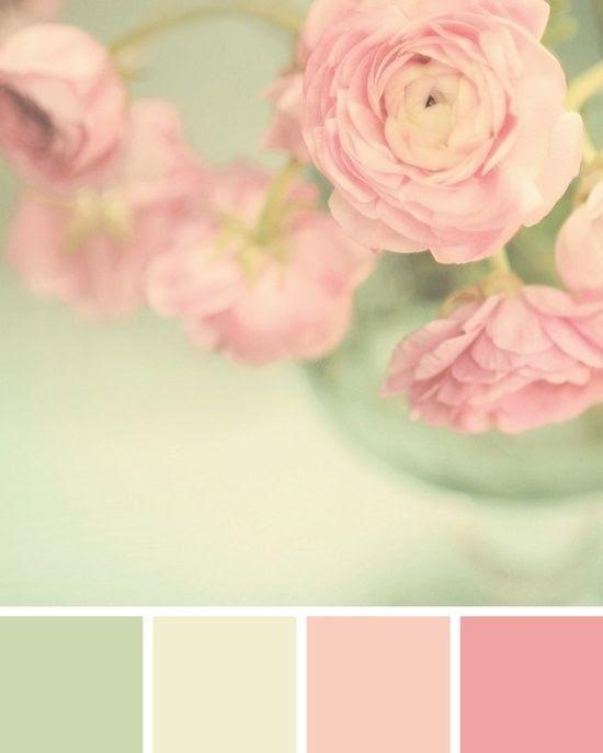 Mint + Pink Color palette / © Spitfiregirl Design by Maca