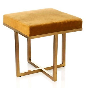Nate Berkus bronze stool via hsn
