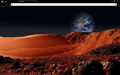 Martian Landscape Space   Chrome Web Store