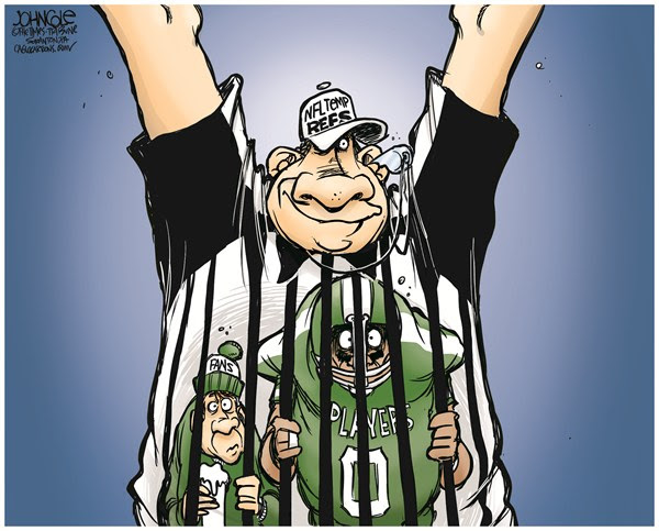 NFL replacement refs © John Cole,The Scranton Times-Tribune,nfl,football,unions,referees,replacement,refs,Those #$%@ Replacement Refs!