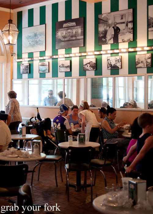 dining room at cafe du monde at the french market in new orleans louisiana