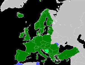 English: map of the European Patent Organisati...