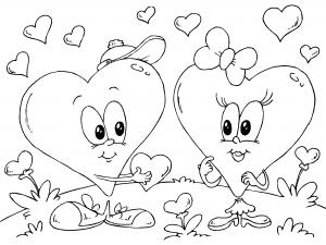 Dibujos De Dia De San Valentin Para Colorear Paracolorearnet