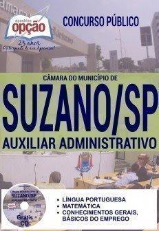 Apostila para o concurso Câmara de Suzano 2016 para o cargo de Auxiliar Administrativo