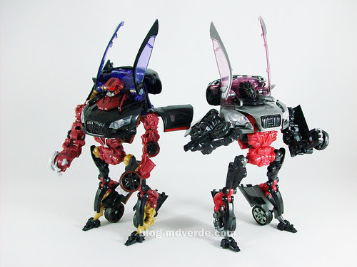 Transformers Dead End RotF Deluxe vs. Sideways - modo robot
