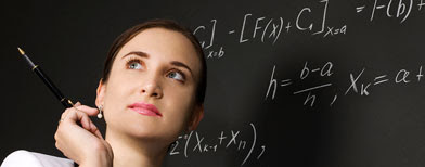 Woman mathematician. (iStockphoto)