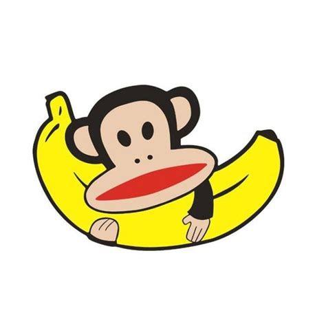 monkey banana cartoon fashion creative reflective cover scratches gambar kartun pisang