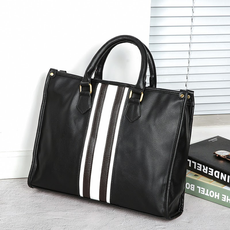 Sale 2019 New Famous Brand Business Men Briefcase Bag Luxury Leather Laptop Bag Man Shoulder Bag bolsa maleta