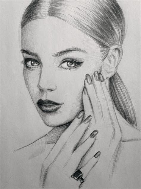 nails art sketch drawing makeup hair beautiful