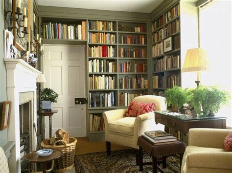 cozy home library ideas  pinterest library