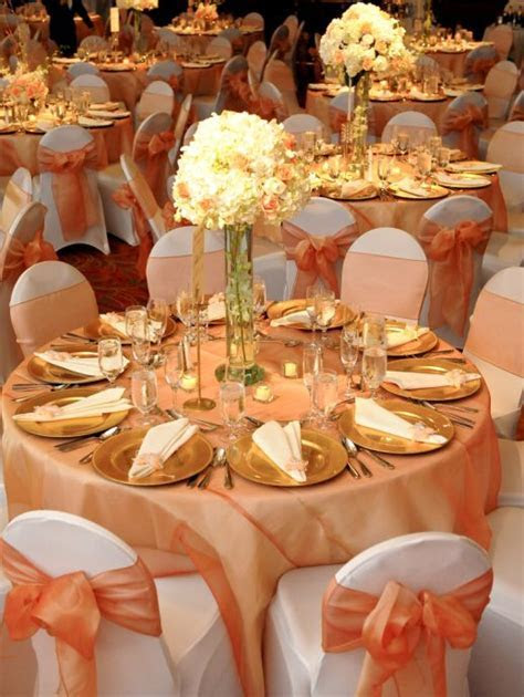 Image result for peach white and gold wedding colors
