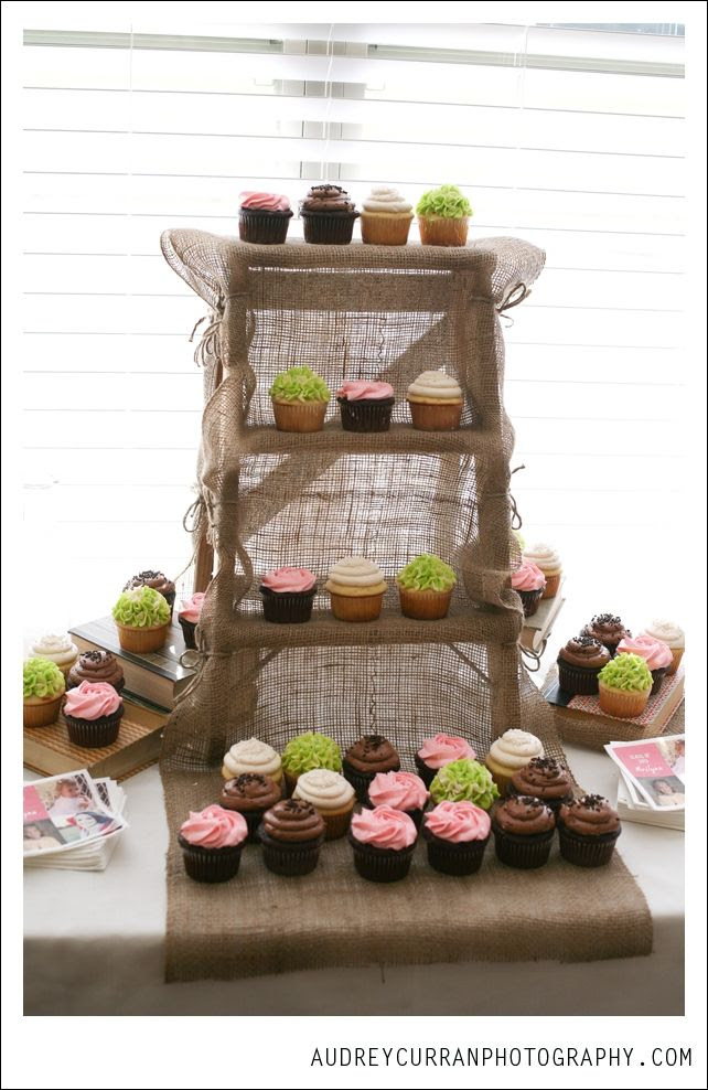 Rustic Cupcake Stand Large White Washed Shabby Chic Cupcake